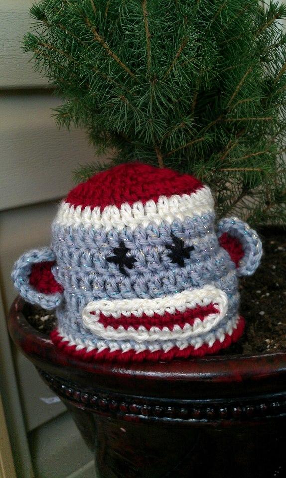 Free Pattern: Newborn Sock Monkey Hat My Crafty Life as ...
